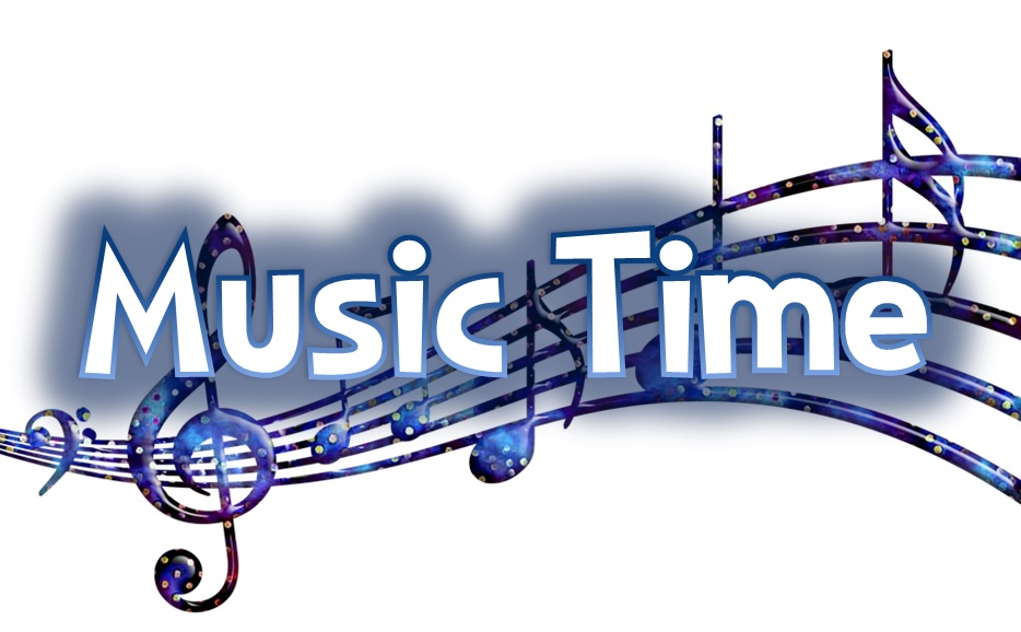Music Time graphic with music notes