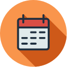 Events quick link calendar icon with orange background