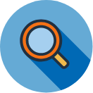 Find Materials quick link icon with magnifying glass