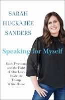 "Image for ""Speaking for Myself"""