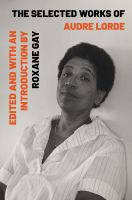 "Image for ""The Selected Works of Audre Lorde"""