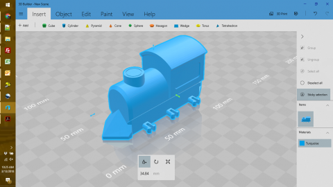 3D toy maker program window